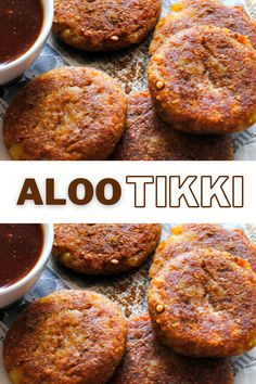 Indian street food like Aloo tikki is every chaat lover's delight and the perfect evening snack. Learn how to make these golden and perfectly crispy tikkis and serve them with a sweet and spicy tamarind chutney for extra zing! #alootikki #indianstreetfood #chaat Indian Potato Recipes, Easy Indian Recipes, Easy Recipes, High Protein Vegetarian Recipes, Vegan Recipes, Savoury Finger Food, Paneer Dishes, Potato Snacks, Potato Patties