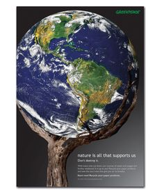 Deforestation. Nature is all that supports us. Don't destroy it!