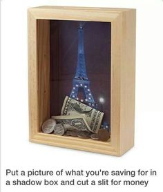 Brock And I are searching for the perfect money box, this is a cute idea!
