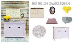 Babykamer | Kinderkamer meisje | Commode Daantje Camilla Collection | Girlsroom | Nursery | http://www.kinderkamerinstijl.nl/pretty-pastel/shop-the-look/commode-daantje