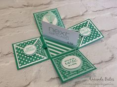 The Craft Spa - Stampin' Up! UK independent demonstrator : Emerald Envy Gift Card Holder Explosion Box Tutorial