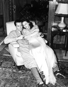 deforest:  Henry Fonda and Barbara Stanwyck rehearsing on the set of You Belong to Me (1941)