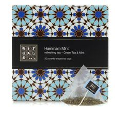 Hammam Mint is a tea from the RITUALS Hammam line. It is a refreshing green tea based on fresh mint, rich in antioxidants. Beauty Packaging, Packaging Design, Skin Food, Fresh Mint, Beauty Make Up, Mint Green, Herbalism, Decorative Boxes, Shapes
