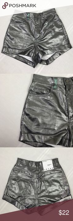 American Apparel Denim High Cuff Shorts Size 27 American Apparel Jeans Denim High-Waist Cuff Shorts Size 27 American Apparel Shorts Jean Shorts