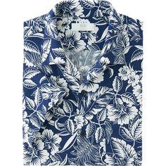 男裝 熱帶風 印花襯衫 (短袖)