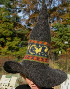 33ad49f0be6 The Enchanting and Wonderful Witch Hat by Anne Carroll Gilmour available  from Black Sheep Wool Co.