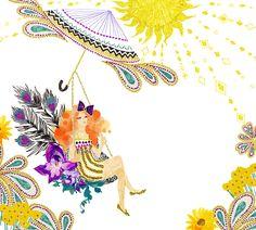 #peacockwoman #animal #frame #枠 #動物 #広告 #花 #flower #デザイン #お洒落 #可愛い #線画 #コラージュ #collage #illustration #kanakobayashi #art #illust