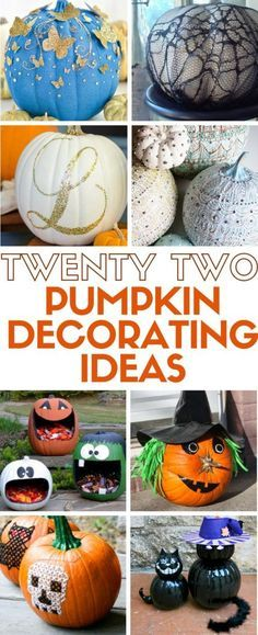 35+ Fun Painted Pumpkin Ideas for the Best-Ever Halloween - halloween pumpkin decorations