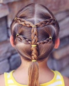 Braids and ponytails