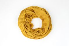 Mustard Infinity Scarf