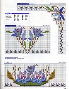 (1) Gallery.ru / Фото #24 - JULHO 2000 - mornela Cross Stitch Rose, Cross Stitch Borders, Cross Stitch Flowers, Cross Stitch Embroidery, Embroidery Patterns, Cross Stitch Patterns, Fabric Painting, Needlework, Diy And Crafts