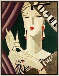Art deco fashion paris eiffel magazine cover art poster print s Vogue Vintage, Vintage Vogue Covers, Pub Vintage, Vintage Art, Fashion Vintage, Arte Art Deco, Motif Art Deco, Art Deco Era, Art Deco Illustration