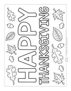 Thanksgiving Coloring Pages - itsybitsyfun.com