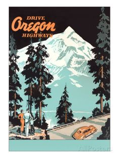Drive Oregon Highways Print at AllPosters.com