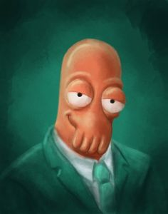 Painting of Dr. Zoidberg