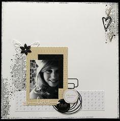"""Bonjour, parmi toutes les jolies collections de papiers créées par notre Fée j'ai choisi de réaliser une page et un petit tag en utilisant essentiellement les planches d'étiquettes beiges """"Un air chic"""" : cœurs or, étoiles nordiques et les ronds. J'y ai..."""
