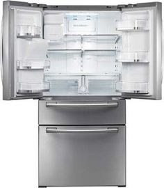 Samsung 4-Door French Door Refrigerator with Spill Proof Glass Shelves, FlexZone Drawer, Power Freeze/Cool Options and External Ice/Water Dispenser