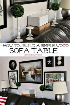 Building a wooden sofa table is a simple beginners project that can be done in a weekend, and is easy on the budget too! Click over to see the tutorial.