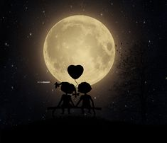 i and moon and my best friend. by Arnis Gashi / Cute Wallpaper Backgrounds, Galaxy Wallpaper, Cute Wallpapers, Love Cartoon Couple, Cute Love Cartoons, Couple Drawings, Love Drawings, Love Wallpapers Romantic, Moon Photography