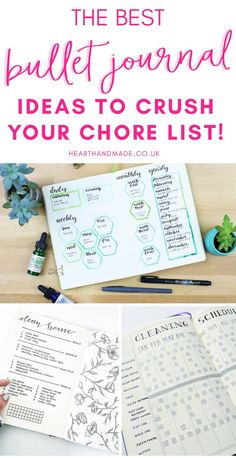 Are you searching for bullet journal ideas to keep your house clean & organized? Here are 15 bullet journal layout ideas to use as inspiration for your spring cleaning schedule. Bullet journal inspiration isn't exactly difficult to come by but there are some genius layouts to keep track of your cleaning & organizing all year long. #bulletjournal #bujo #bulletjournaling #hhmuk #organizing #springcleaning Bullet Journal Printables, Journal Template, Bullet Journal Layout, Bullet Journal Inspiration, Journal Ideas, Spring Cleaning Schedules, Organizing, Organization, Clean House