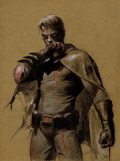 Batman by Gerald Parel.  How Batman should be. This might be my favorite image of Batman ever.