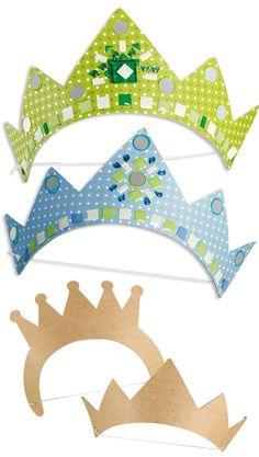 Gabarit couronne prince princesse pour piphanie et carnaval galette roi reine pinterest - Couronne princesse a decorer ...