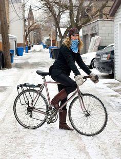 winter biking - Google Search