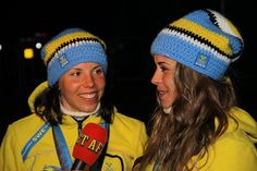 Gold and Silver medalists in the Cross-Country Skiing - Ladies' 10 km Free event, Swedes Charlotte Kalla and Anna Haag by Flickr user djtomdog