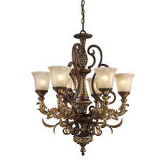 Elk Lighting Regency Chandelier in Ceiling Lights, Chandeliers, Indoor Chandeliers: ProgressiveLighting.com