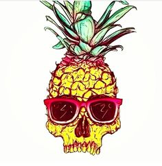 Ananas background for the summer