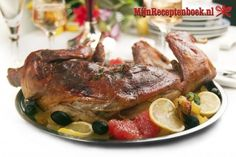 As oven temps vary, remember to cook your rabbit to at least 165 degrees F, which kills any bacteria still in the meat. Use a meat thermometer to ensure the inside of the meat reaches that temperature. Roast Rabbit, Rabbit Dishes, Chicken Games, Urdu Recipe, Spare Ribs, Roast Recipes, Carne, Slow Cooker, Pork