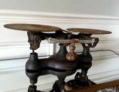 Antique Cast Iron and brass scale postal scale cast by Pickedtwice, $72.00