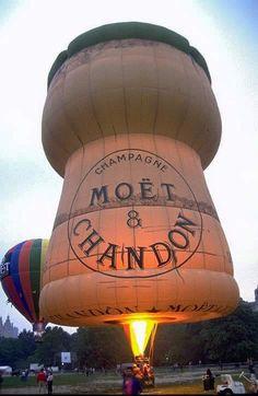 """The Champagne cork hot air balloon! Champagne Balloons, Champagne Corks, Flying Balloon, Balloon Rides, Air Ballon, Hot Air Balloon, Sky Ride, Balloon Pictures, World Photo"