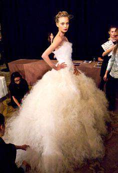 #TanyaDziahileva #Marchesa #FW2012 #Bridal #Runway #Wedding #Faves