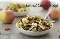Harvest #Quinoa Salad! Its like a bowl of #fall, and my newest obsession.