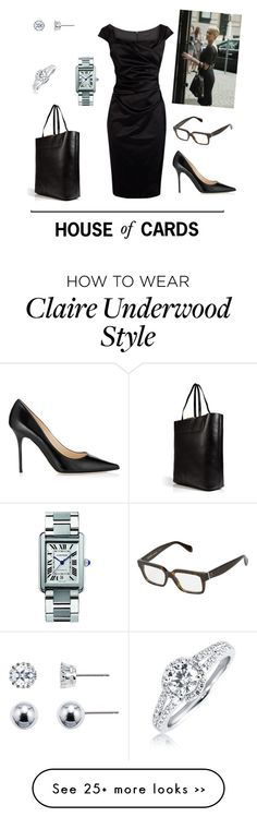 """House of Cards - Claire Underwood"" by tsilyts on Polyvore"