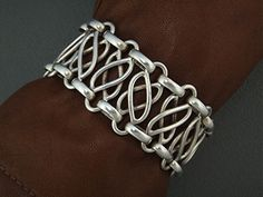 Bracelet | Hector Aguilar. Sterling silver.  ca. 1940s, Taxco.