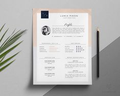 Resume Template + Cover Letter by This Paper Fox on @creativemarket