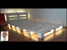 Room Design Bedroom, Room Ideas Bedroom, Home Room Design, Home Decor Bedroom, Wooden Pallet Beds, Pallet Bed Frames, Diy Pallet Bed, Pallet Ideas, Pallet Furniture Designs