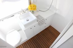 hofarc_10 copy painting airstream teak white toilet bathroom flower
