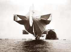Stern of Zeppelin airship. It was made in 1908.
