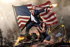 Bill Clinton is a red blooded American. He likes guns, burgers, and women. When those are threatened by any foe foreign or domestic he will take up