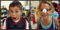 Oppilaan nenään laitetaan vaseliinia tahmaksi. Kahdella pöydällä on pumpulipalloja. Kukin yrittää mahdollisimman nopeasti siirtää pumpulipallon nenänsä päällä pöydältä toiselle. Käsiä ei saa käyttää.