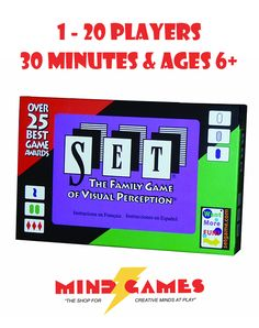 """Set Card Game is an addictive game of visual perception and pattern recognition that tests your memory and observation. While the concept is simple, the way Set challenges the mind is brilliant. Players set up cards with different symbols on them, and try to find matching """"sets"""" of 3 cards that range from the really obvious to the painfully brain-bending. With 20 """"best game"""" awards under its belt, Set proves to be a winning choice for anyone who wants a mentally stimulating game."""