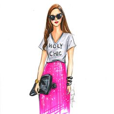 Fashion illustration sketch,Fashion art,Fashion illustration,Chic wall art, Fashion print,fashion poster,Titled,Holy Chic
