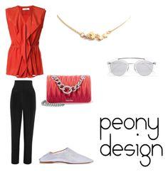 """Peony Design"" by teri-peony on Polyvore featuring Jil Sander, TIBI, Miu Miu, Acne Studios and Westward Leaning"