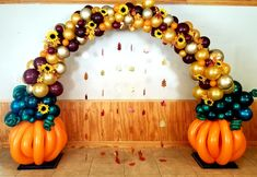 Organic Balloon Arch for a Baby shower felling in love with baby. Balloon pumpkins, burgundy, chrome gold, orange and gold balloons, sunflower. Organic Balloon Arch for a Baby shower Balloon Display, Balloon Garland, Balloon Decorations, Balloon Ideas, Pumpkin Patch Birthday, Pumpkin Birthday Parties, Baby Shower Balloons, Baby Balloon, Sunflower Baby Showers