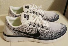 #Men #Shoes Nike Free RN Distance running/ training shoes men's size 11.5 White/Black #Men #Shoes