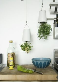 Kitchen based Boskke Sky Planters for herbs from 2tech
