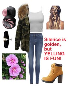 """A stroll in the garden"" by enna-9202 ❤ liked on Polyvore featuring 7 For All Mankind and Charlotte Russe"